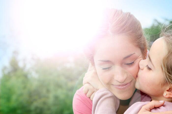 ママと子の笑顔