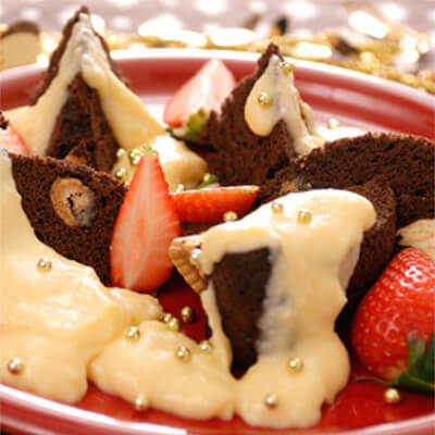 グリコのチョコレートケーキ