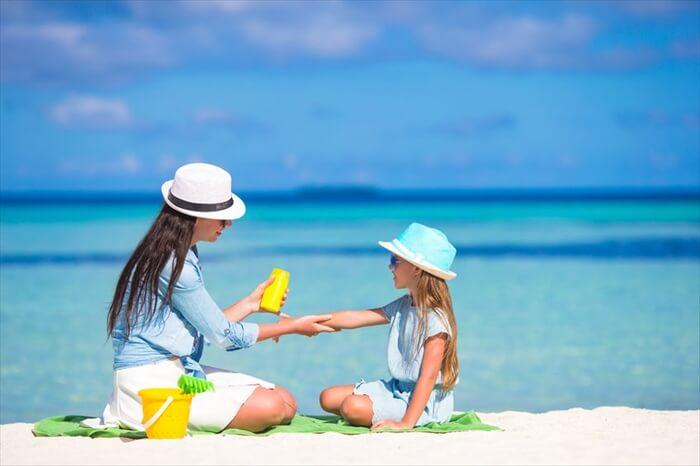 赤ちゃん、子供 日焼け止めの塗り方と注意点