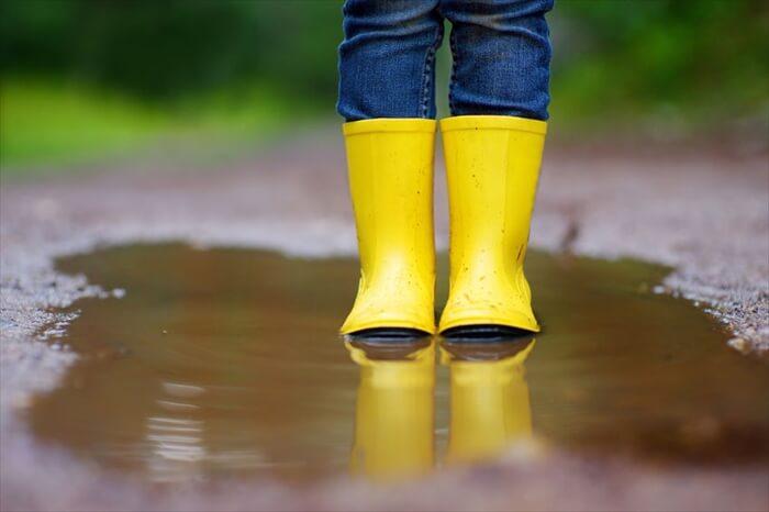 雨の日お散歩に出かける準備